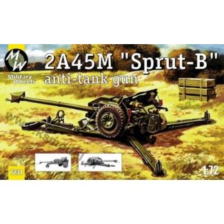 "Military Wheels 1/72 2A45M ""SPRUT-B"" Anti-tank gun # 7231"