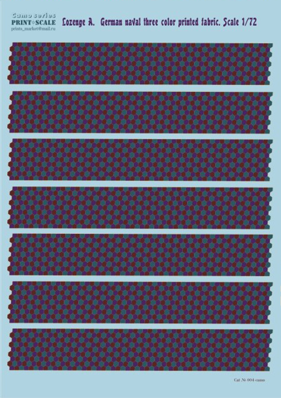 Print Scale 1/72 Lozenge A. German naval three color printed fabric / 004