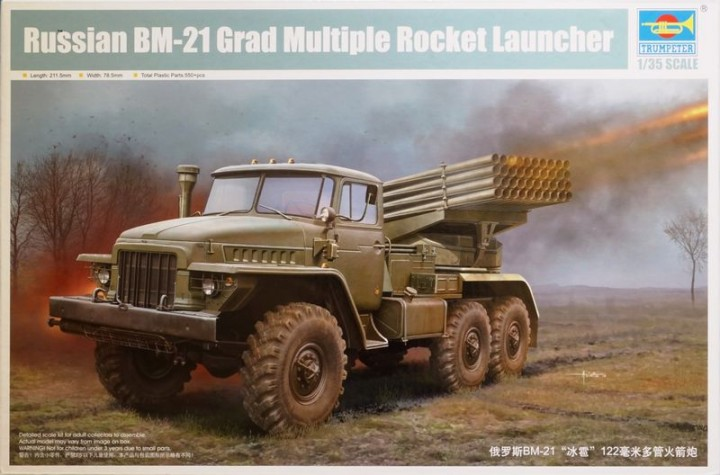 Trumpeter 1/35 BM-21 Grad Multiple Rocket Launcher # 01028