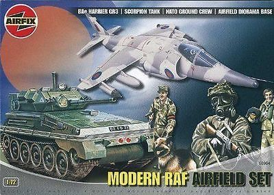 Airfix 1/72 MODERN RAF AIRFIELD SET DIORAMA HARRIER SCORPION # 06904