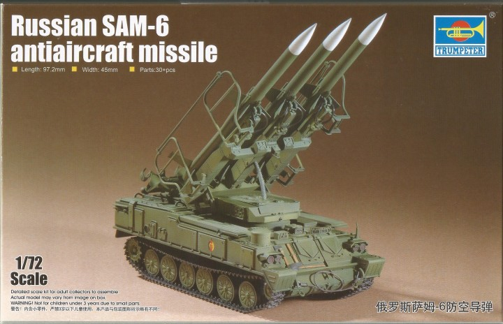 Trumpeter 1/72 Russian SAM-6 antiaircraft missile # 07109