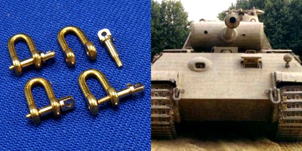 RB model 1/35 Shackles (4 pcs)  Used in different military vehicles, especially in Panther # 0778244
