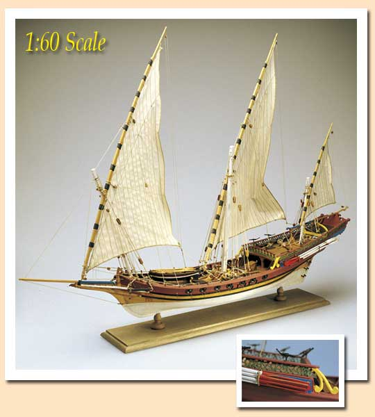Amati 1/60 Barbarian Pirate Xebec # 1427