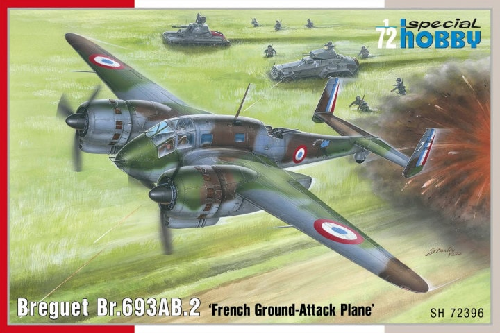 Special Hobby 1\72 Breguet Br.693AB.2 French Ground-Attack Plane # 72396