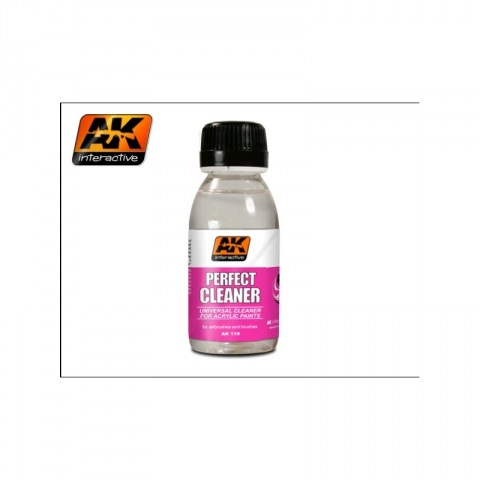 AK Interactive  Perfect Cleaner Universal Cleaner For Acrylic Paints 100ml # 119