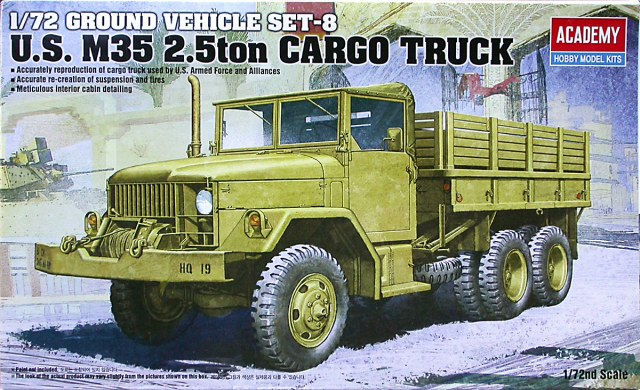 Academy 1/72 U.S. M35 2.5ton Cargo Truck Ground Vehicle Set-8 # 13410