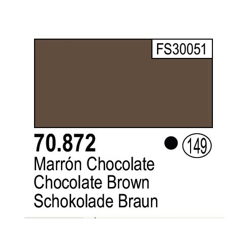 Vallejo 17ml Model Color - CHOCOLATE BROWN # 70872