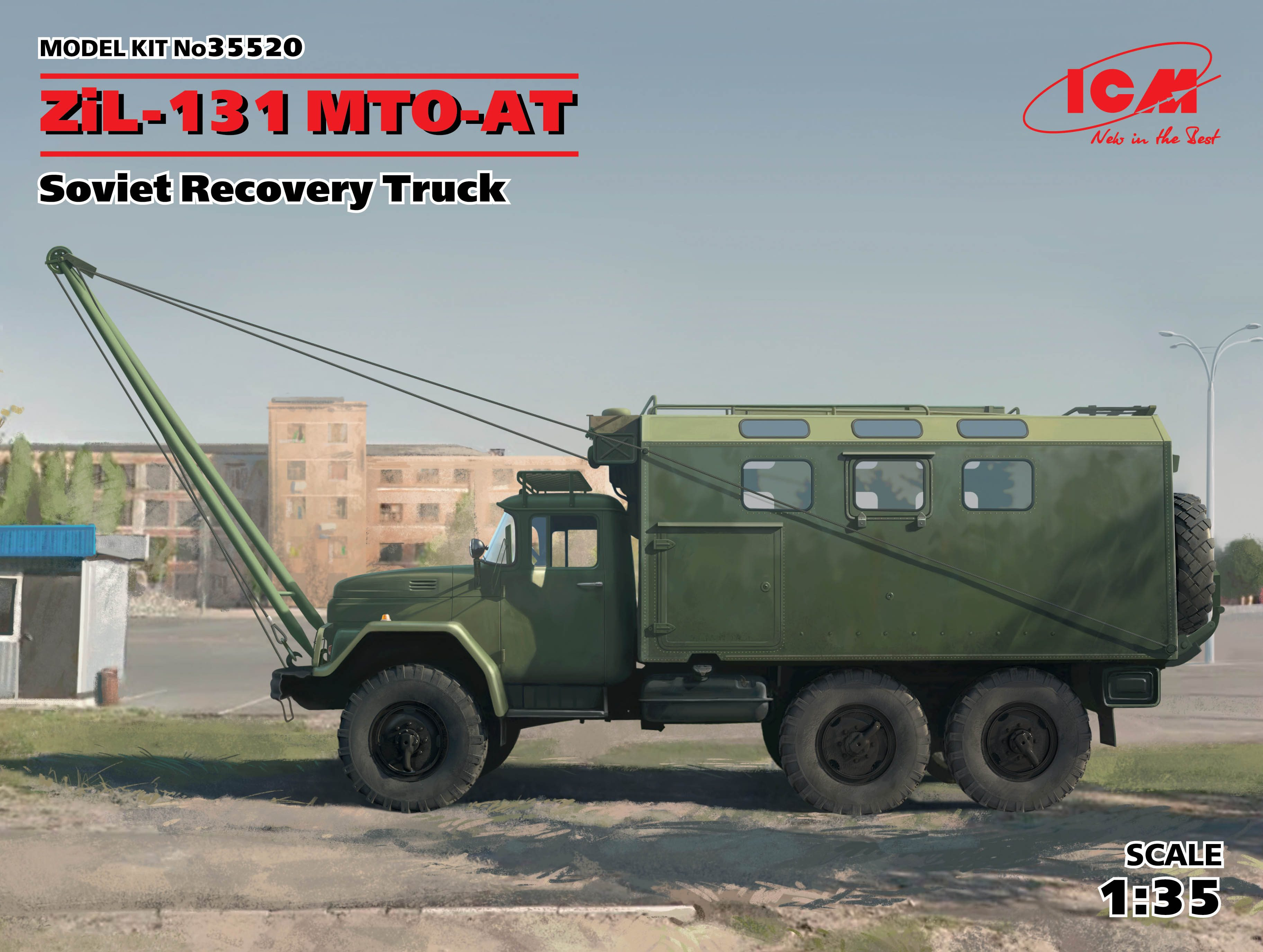 ICM 1/35 ZiL-131 MTO-AT, Soviet Recovery Truck # 35520