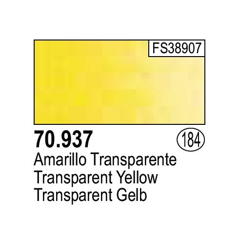 Vallejo 17ml Model Color - TRANSPARENT YELLOW # 70937