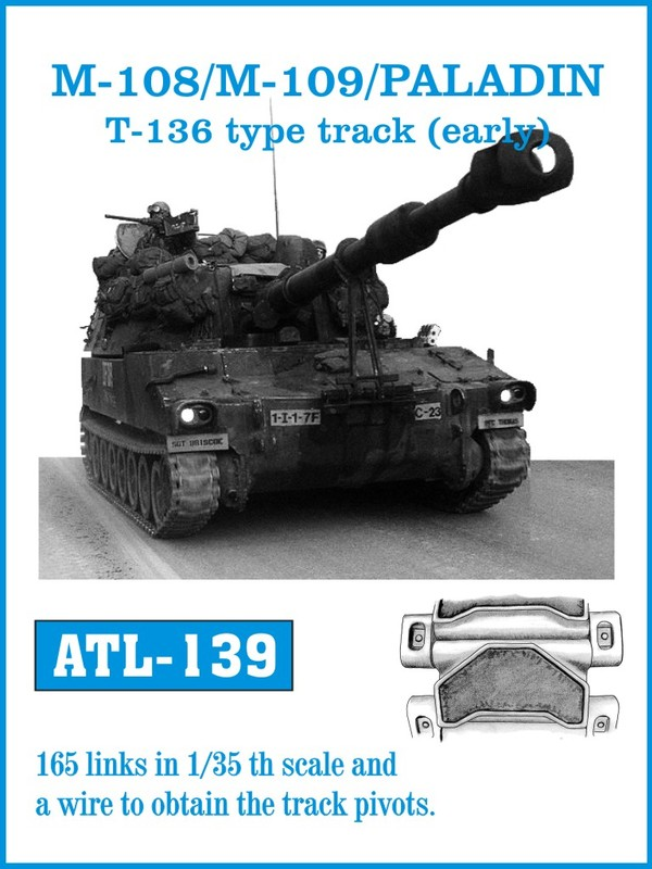 Friulmodel 1/35 M-108/M109 /PALADIN T-136 type track (early) # 139