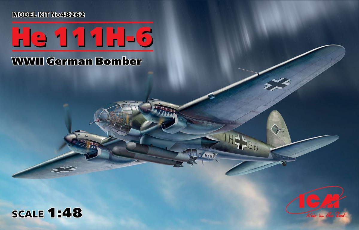 ICM 1\48 He 111H-6 WWII German Bomber # 48262