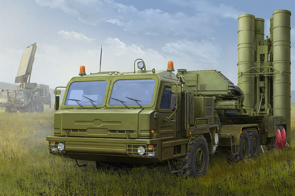 Hobby Boss 1/35 Russian BAZ-64022 with 5P85TE2 TEL S-400 # 85517