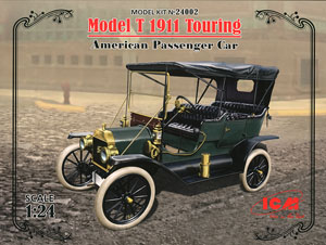ICM 1/24 Model T 1910 Touring American Passenger Car # 24002