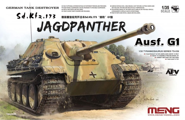 Meng Model 1/35 German Tank Destroyer Sd.Kfz.173 Jagdpanther Ausf.G1 # TS-039