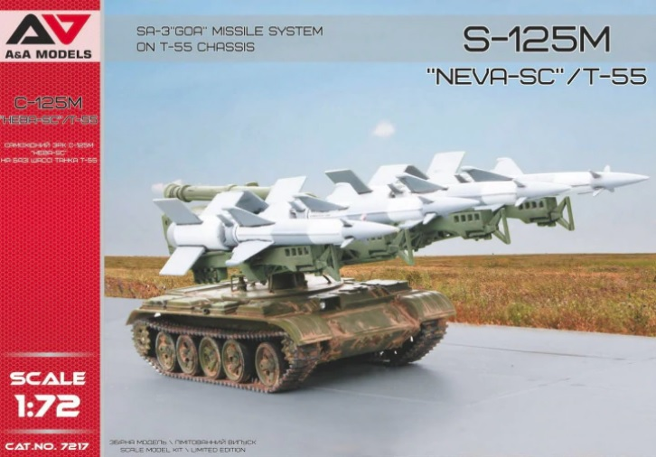 "A&A Models 1/72 S-125M ""Neva-SC""/T-55 SA-3 Goa Missile System on T-55 Chassis # 7217"