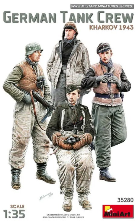 MiniArt 1/35 German Tank Crew Kharkov 1943 # 35280