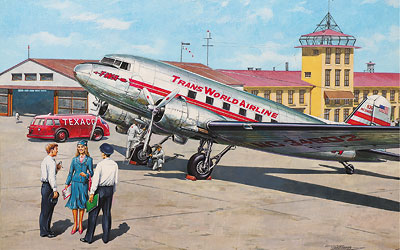 Roden 1/144 Douglas DC-3 Trans World Airlines # 309