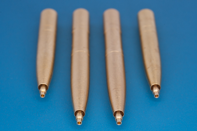"RB model 1/32 4 x 20mm Hispano cannons Those barrels where used in Spitfire ""wing E"" # 32AB11"
