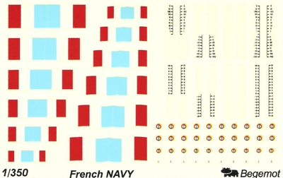 Begemot 1/350 French Navy # 350-002