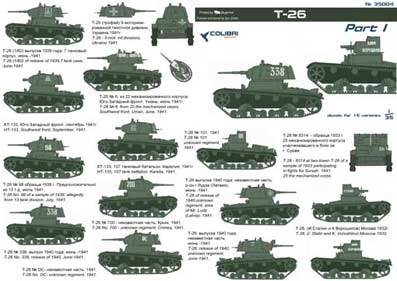 Т-26 Part I 1/35 Colibri Decals # 35004