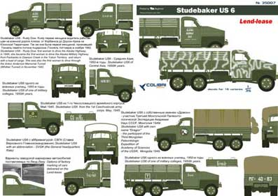 Studebaker US6 Part I 1/35 Colibri Decals # 35007