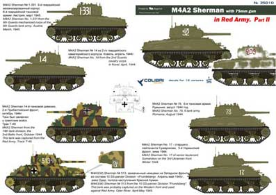 M4A2 Sherman in Red Army  Part II 1/35 Colibri Decals # 35010