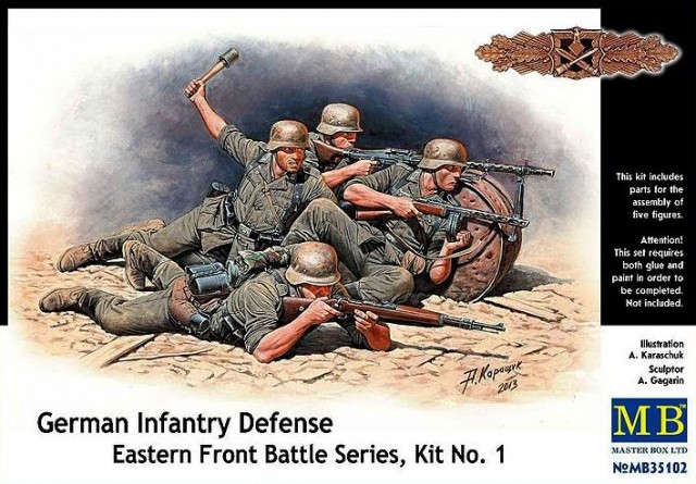Master Box 1/35 German Infantry Defense  Eastern Front Battle Series, Kit No. 1 # 35102