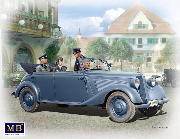 Master Box 1/35 German military car, Type 170V, Tourenwagen with crew, WW II # 35113