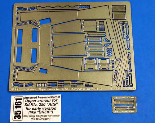 Aber 1/35 Upper armour for Sd.Kfz.250Alte for early version(like Greiff) (DRA) # 35161