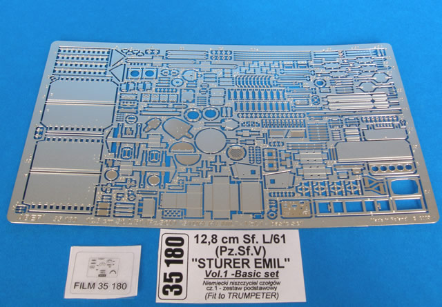 Aber 1/35 12,8cm Sf.L/61 (Pz.Sf.V) Sturer Emil, vol.1 Basic set # 35180