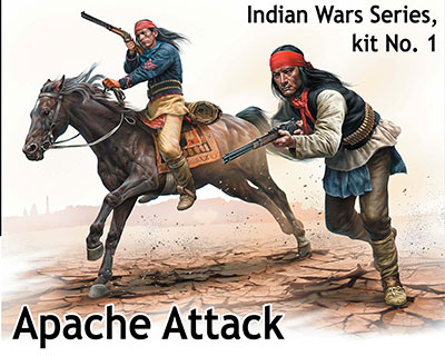 Master Box 1/35 Indian Wars Series, kit No.1. Apache Attack # 35188