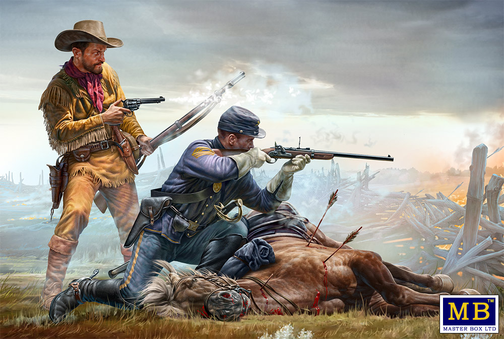 Master Box 1/35 INDIAN WARS SET 3 : Last stand # 35191