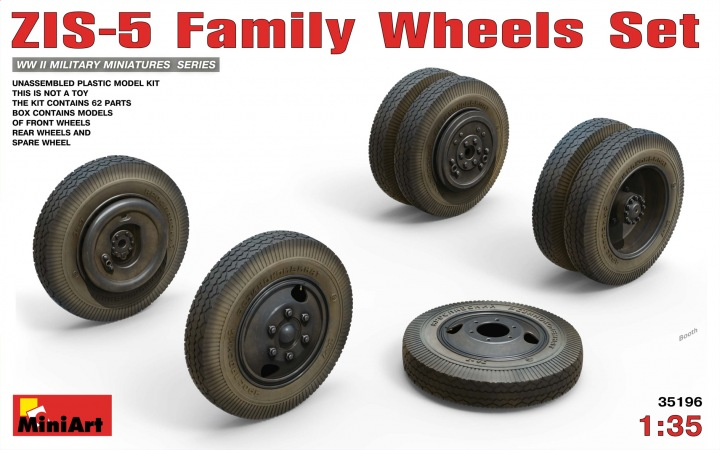 MINIART 1/35 ZIS-5 Family Wheels Set # 35196
