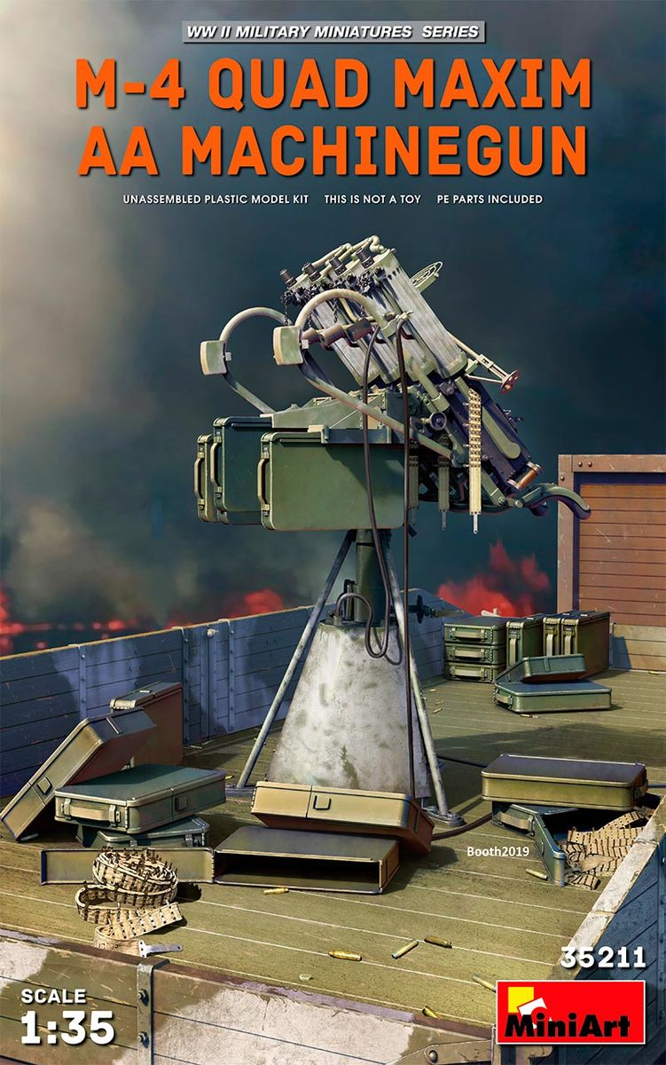MiniArt 1\35 M-4 Quad Maxim AA Machinegun # 35211