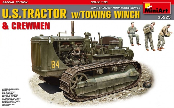 MiniArt 1/35 U.S. Tractor w/Towing Winch & Crewmen # 35225