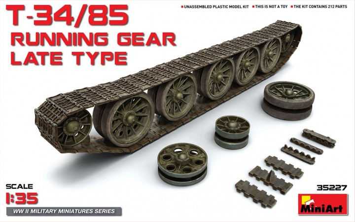 MINIART 1/35 T-34/85 Running Gear Late Type # 35227