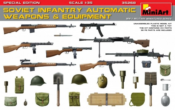 MiniArt 1/35 SOVIET INFANTRY AUTOMATIC WEAPONS & EQUIPMENT # 35268