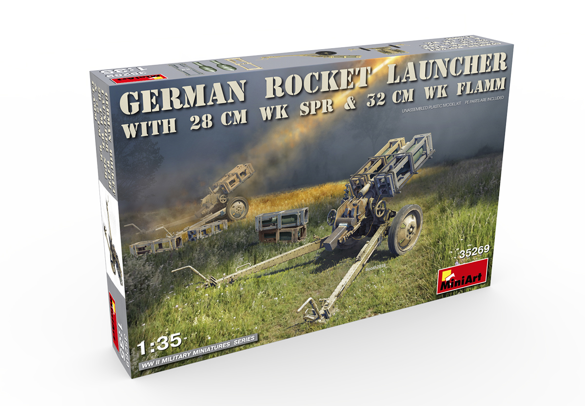 MiniArt 1/35 German Rocket Launcher with 28 CM WK SPR & 32 CM WK FLAMM # 35269