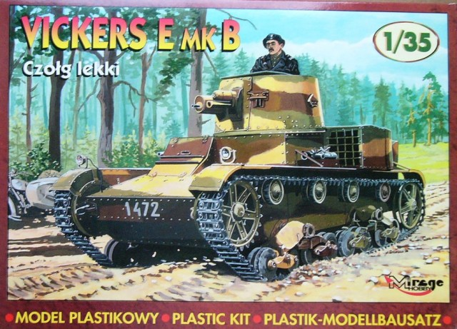 Mirage Hobby 1/35 Vickers E Mk.B Light Tank # 35304