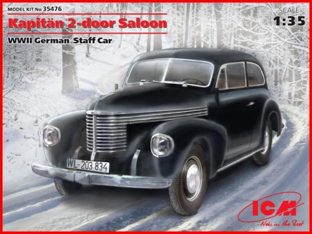 ICM 1/35 Kapitän 2-door Saloon WWII German Staff Car # 35476