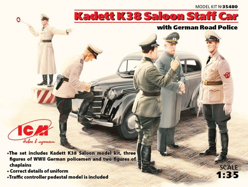 ICM 1/35 Kadett K38 Saloon Staff Car with German Roadpolice # 35480