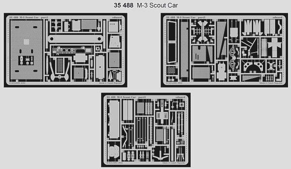 Eduard 1/35 M3 Scout Car etch for Italeri / Zvezda kit # 35488
