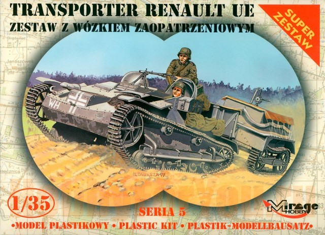 Mirage Hobby 1/35  Renault UE with universal transport vehicle # 355014