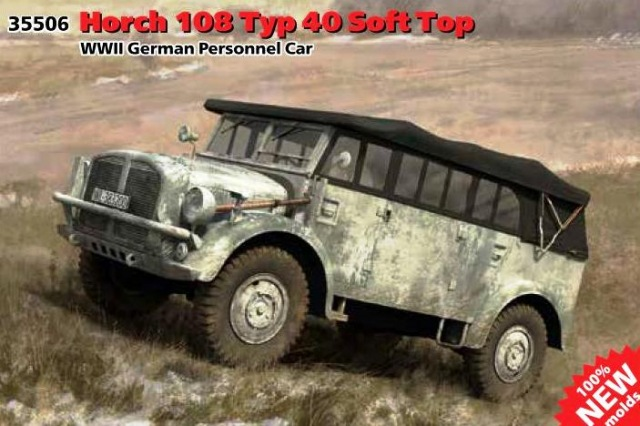 ICM 1/35 Horch 108 Typ 40 Soft Top WWII German Personnel Car # 35506