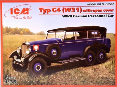 ICM 1/35 Typ G4 (W31) with open cover WWII German Passenger Car # 35532
