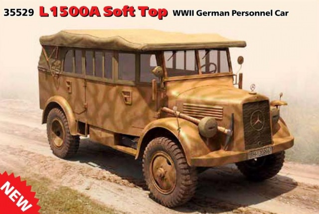 ICM 1/35 L1500A Soft Top WWII German Personnel Car # 35529