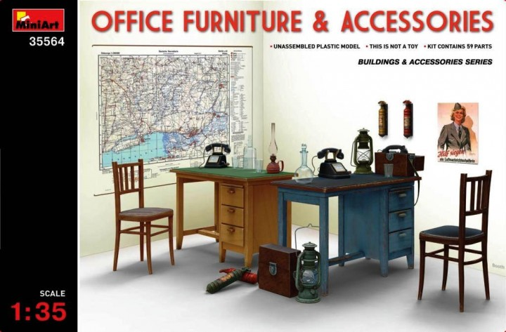 MINIART 1/35 Office Furniture & Accessories # 35564