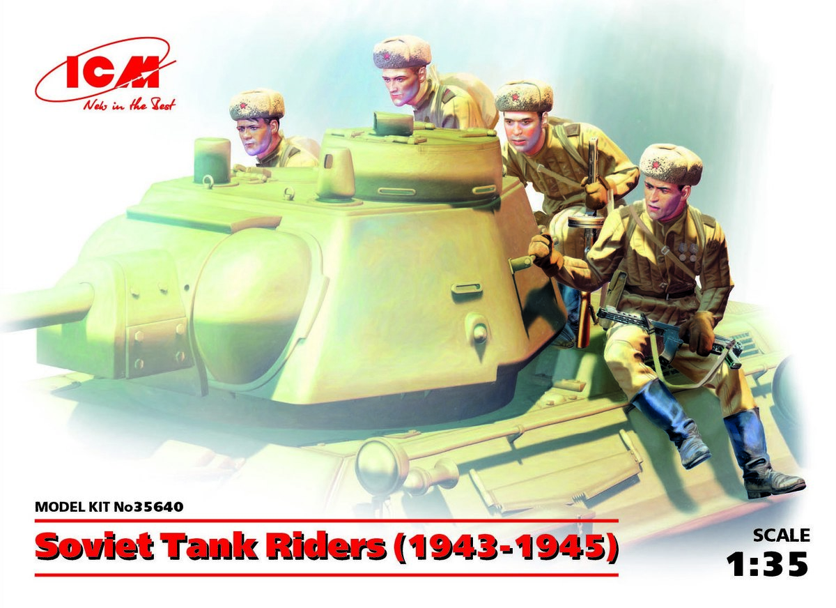 ICM 1/35 Soviet Tank Riders (1943-1945) (4 figures) (100% new molds) # 35640