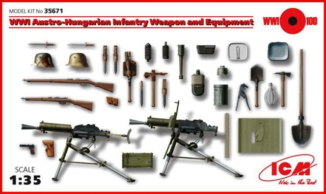 ICM 1/35 WWI Austro-Hungarian Infantry Weapon and Equipment # 35671