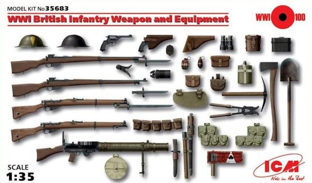 ICM 1/35 WWI British Infantry Weapons and Equipment # 35683